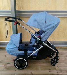 Phil & Teds Voyager full sun canopy on stroller and double kit