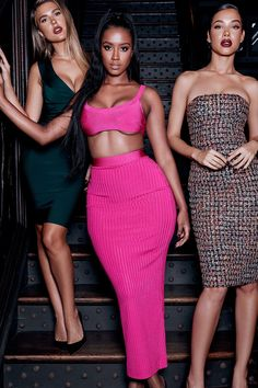 Fresh and summery, 'Eve' is crafted from a lightweight bandage fabric that still highlights your curves. The deep waistband snatches your waist. Bandage Skirt Outfit, Bandage Dresses, Pink Outfits, Cute Outfits, Sexy Dresses, Runway Fashion, Womens Fashion, Fashion Edgy, Fashion Spring
