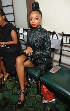 Skai Jackson Photos - Actor Skai Jackson at the Wolk Morais Collection 5 Fashion Show at Yamashiro on May 2017 in Los Angeles, California. - Wolk Morais Collection 5 Fashion Show Pretty Black Girls, Black Kids, Beautiful Black Women, Beautiful People, Beautiful Pictures, Skai Jackson, Black Girl Braids, Girls Braids, Tween Fashion