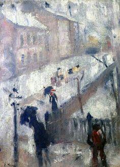 'Street in Winter' - Edvard Munch.                                                                                                                                                     More