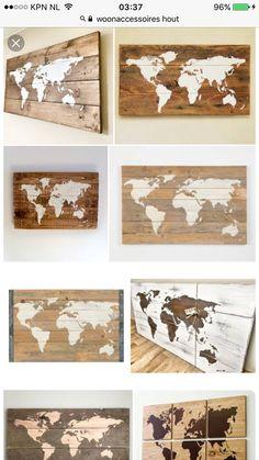 carte du monde dyi sur bois pour d coration murale d coration appart 39 pinterest carte du. Black Bedroom Furniture Sets. Home Design Ideas