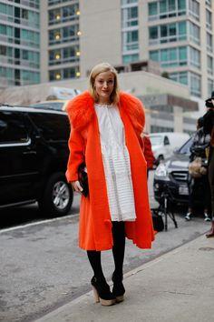bright tangerine coat