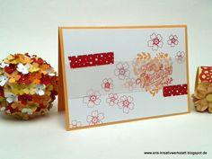 #Karte + Blümchenkugel zum #Valentinstag   http://eris-kreativwerkstatt.blogspot.de/2017/02/karte-blumchenkugel-zum-valentinstag.html  #stampinup #teamstampingart #heimdeko #frühling