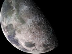 Amazing close-up of the Moon. HD Photos