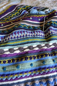 mixed crochet blanket