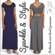 ✨Navy maxi dress✨ ✨See second picture for description ✨ALSO AVAILABLE IN BLACK Dresses