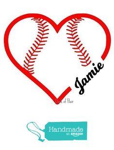 Personalized Baseball Softball Vinyl Wall Decal; Customizable Decal for Home, Yeti Cup, Car, Water Bottle, Sports Nursery, Kids Room from Dash of Flair http://www.amazon.com/dp/B01AVT4A5U/ref=hnd_sw_r_pi_dp_HajXwb0BSCTMZ #handmadeatamazon #baseball #baseballdecor $8.25