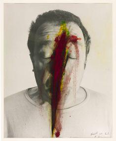 Untitled (Face Farce) - Arnulf Rainer - Neo-Expressionism, Self Portrait, 1971 Paint Photography, Dream Photography, Fine Art Photography, Portrait Photography, Arnulf Rainer, Identity Art, Conceptual Art, Face Art, Photo Manipulation