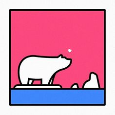 Polar bear #polarbear #graphic #illust #illustration #graphicdesign #pictogram #thedesigntip #artwork #isotype #meanimize