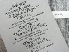 Amazing Letterpress Wedding Invitations Featuring Caslon | Jeannie Huang