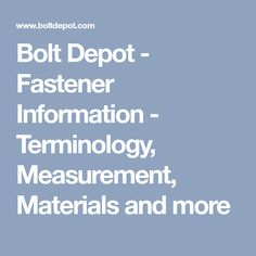 Bolt Grade Chart  Fastener References  Guide For Flanges
