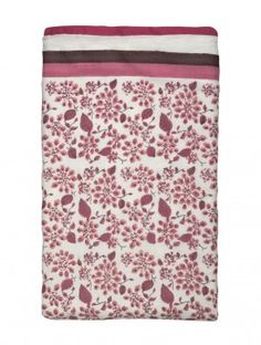 INDIAN AUGUST  Floral Block Printed Cotton Duvet Cover - 108in x 90in