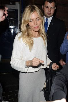 Chic: Sienna Miller looked chic when she was supported by pal Liv Tyler at the Apollo thea...