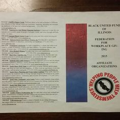 Totally Positive Productions is proud to be an affiliate of the BLACK UNITED  FUND OF ILLINOIS!!! totallypositiveproductions.com