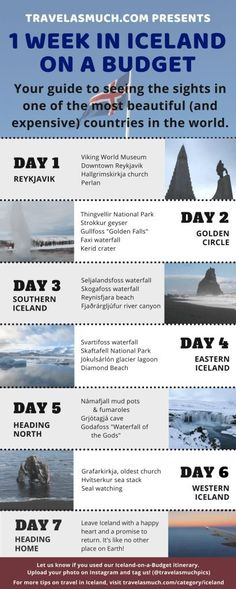 Iceland on a Budget: A One Week Itinerary for All Seasons - Reiseziele - Urlaub Iceland Travel Tips, Europe Travel Tips, Budget Travel, Travel Guides, Places To Travel, Travel Destinations, Iceland Budget, Travel Hacks, Holiday Destinations