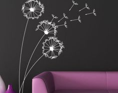 Wall Decal white silhouette decal wall decal por ModernWallDecal