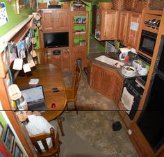 The RV couch and table was the last camper-looking furniture and we're so glad it's gone!  The Lundy 5: Kitchen table remodel