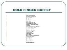 cold buffet food list buffet party food best home interior finger