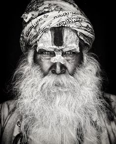 Sadhu by Mario Gerth - Beards of Faith - Human - Face Photos Portrait Homme, Photo Portrait, Portrait Photography, Black And White Portraits, Black And White Photography, John Kenny, Beautiful Images, Beautiful People, Anthropologie