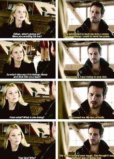 Emma and Killian. Oh last night's episode....Sob..Hook tries  so hard to do the right thing and what does he get? Mistrust, anger and accusation.