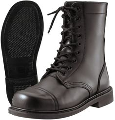 - GI Style Combat Boots - Made To Military Specifications - Top Grain Cowhide Leather - Goodyear Welt - Sizes Available: 3-13 (Half Sizes: 5.5-10.5) - Great For All Branches Of Military - Also Great F