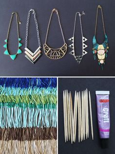 5 Fringe Statement Necklaces You Can Make in Under 5 Minutes