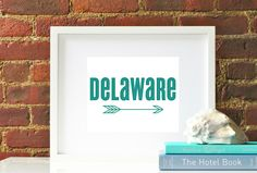 DELAWARE Arrow Print Original Typography Map Modern Home Office Decor Graphic State Print Poster by AmberleeIsabellaHome on Etsy https://www.etsy.com/listing/190878599/delaware-arrow-print-original-typography