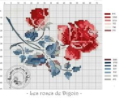 Gallery.ru / Фото #44 - Одна, две, три... - rabbit17 Cross Stitch Cards, Cross Stitch Rose, Cross Stitch Flowers, Cross Stitching, Baby Embroidery, Cross Stitch Embroidery, Embroidery Patterns, Cross Stitch Designs, Cross Stitch Patterns