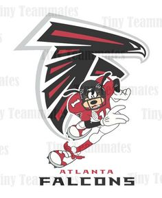 Goofy Inspired Atlanta Falcons Football  - Digital File - Perfect as a Print or Iron on Transfer - All Teams Available