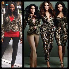 #KardashianKollection Leopard Print Peak Shoulder Blazer (Medium) - As seen on Kourtney Kardashian     Original Price $99 - Your Price $50