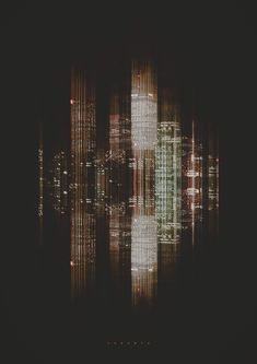 City Sound Retoka, an Art Direction, Graphic Design, and Digital Art Studio in Barcelona, Spain created these interpretations of cities as images of sound. Glitch Art, Nocturne, Sound Art, Light Pollution, Sound Design, Tecno, Sound Waves, Art Studios, Oeuvre D'art