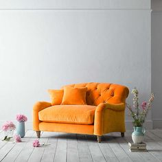 BuyCrumble Snuggler By Loaf At John Lewis In Spiced Orange Clever Velvet,  Light Leg Online