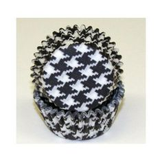 Online shopping from a great selection at Kitchen Krafts, Inc. Cupcake Liners, Cupcake Holders, Cupcake In A Cup, Baking Cups, Houndstooth, Decorative Bowls, Coin Purse, Black And White, Mini