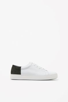 Made from soft leather, these sneakers are a clean, modern style with a  contrast bc1fcdaa3a9