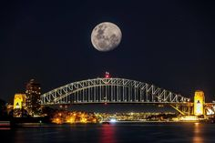 The Super Moon over Sydney