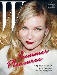 Kirsten Dunst By Juergen Teller & Styled by Felicia Garcia-Riverafor the May 2014 W Magazine Special Edition with Sofia Coppola