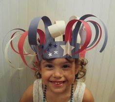 4th of July Hat- Great display of stars and stripes