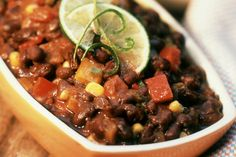 Easy Crock-Pot Black Bean Chili with Bell Peppers and Corn
