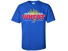 Kansas Jayhawks Wave The Wheat Fans Tee - Royal