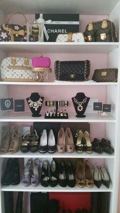 My closet. Soooo lucky!!!