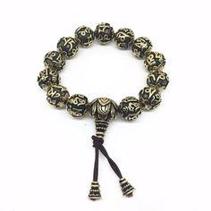 Classic Kangyur Copper Prayer Beads Bracelet
