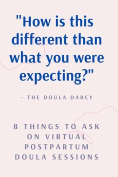 This is a favorite question I ask on my virtual postpartum doula sessions. Learn the 8 questions I always ask on virtual postpartum doula sessions here. #postpartumdoula #virtualdoula #virtualpostpartumdoula Doula Quotes, Doula Certification, Safe Co Sleeping, Becoming A Doula, Doula Training, Doula Business, Favorite Questions, Virtual Class, Text Back