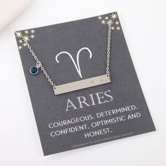 Aries necklace silver aries constellation necklace aries zodiac aries jewelry aries gifts by StatementMadeUK Aries Constellation, Constellation Necklace, Constellation Tattoos, Zodiac Signs Astrology, Aries Horoscope, Aries Zodiac, Libra Necklace, Bond, Zodiac Jewelry