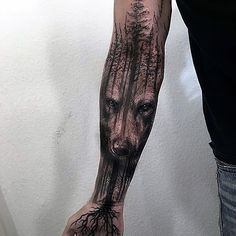 wolf-and-forest-tattoos