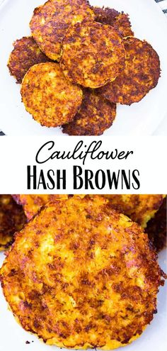 Cauliflower Hash Browns & an easy recipe for a low carb alternative to traditional hash browns made with riced cauliflower, cheese and seasonings, then baked& The post Cauliflower Hash Browns appeared first on Ana Jeffrey Workouts. Diet Recipes, Vegetarian Recipes, Cooking Recipes, Healthy Recipes, Cooking Tips, Easy Recipes, Recipies, Rice Recipes For Dinner, Vegetable Recipes