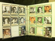 "Ancestor Cards (cont.)...This shows the ""baseball card"" sized ancestor cards in an album. This format would be great to use for a very large family. For a smaller family or if you have lots of genealogical information on each family member, try the same format with full page sized ""cards.""...click for tutorial."