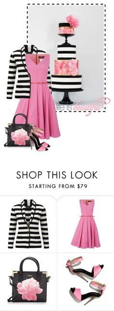 """Pink & Stripes"" by sagramora ❤ liked on Polyvore featuring Viyella, MaxMara, Calvin Klein and Giuseppe Zanotti"