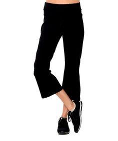 Look what I found on #zulily! Black Straight Organic Capri Pants #zulilyfinds