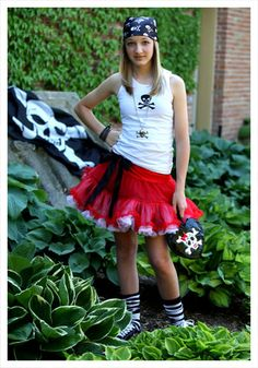 Teen Tutu Pirate costume #Halloween