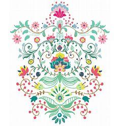 Beautiful floral ornament vector  by Elmiko on VectorStock®